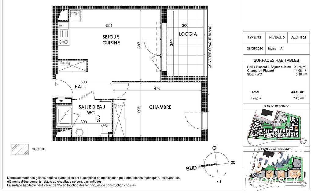 Appartement neuf T2 avec box et terrasse - 83300 - Sud de la France