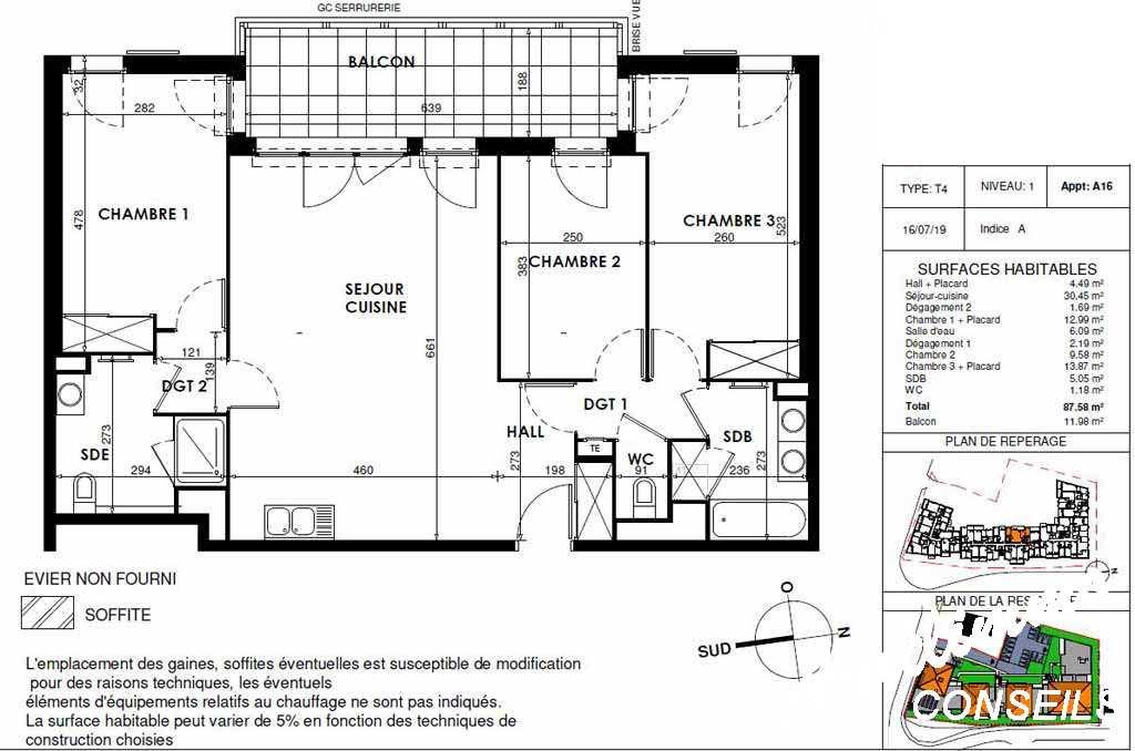 Appartement 4 pièces neuf - 83300 - Sud de la France