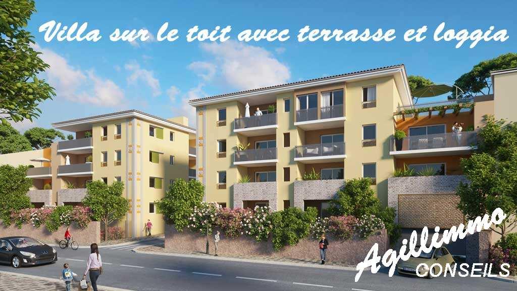 Villa sur le toit avec terrasse et garage - PUGET SUR ARGENS - Sud de la France