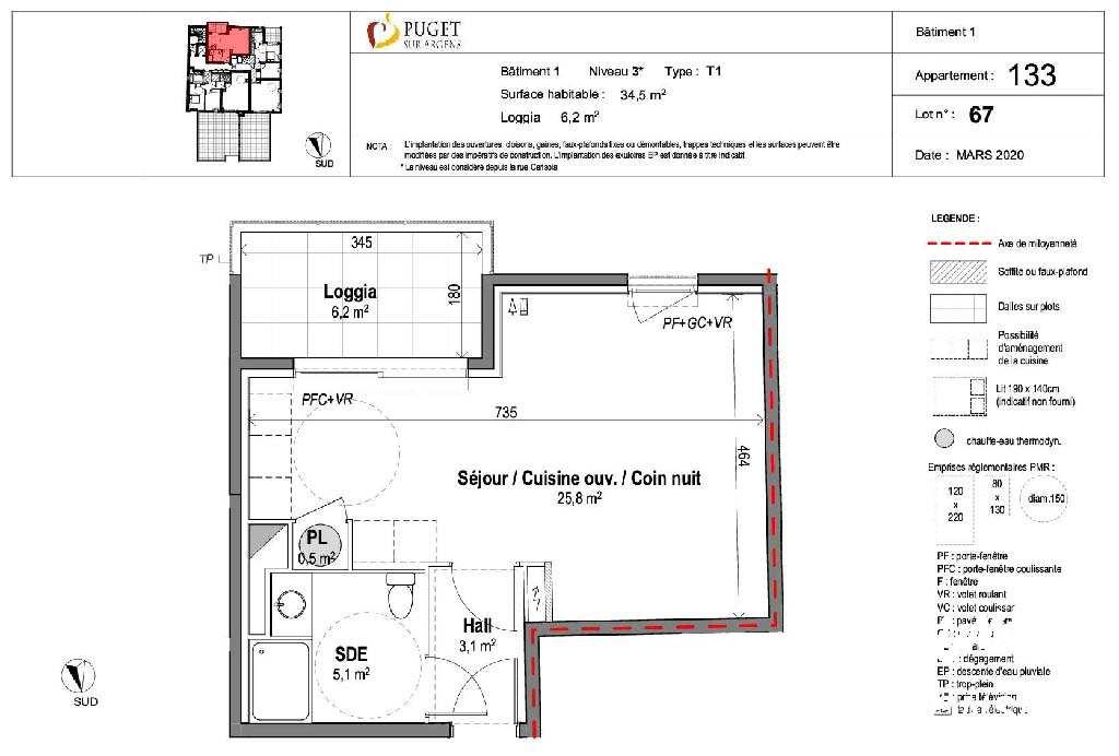 Appartement Studio neuf centre-village - PUGET SUR ARGENS - Sud de la France
