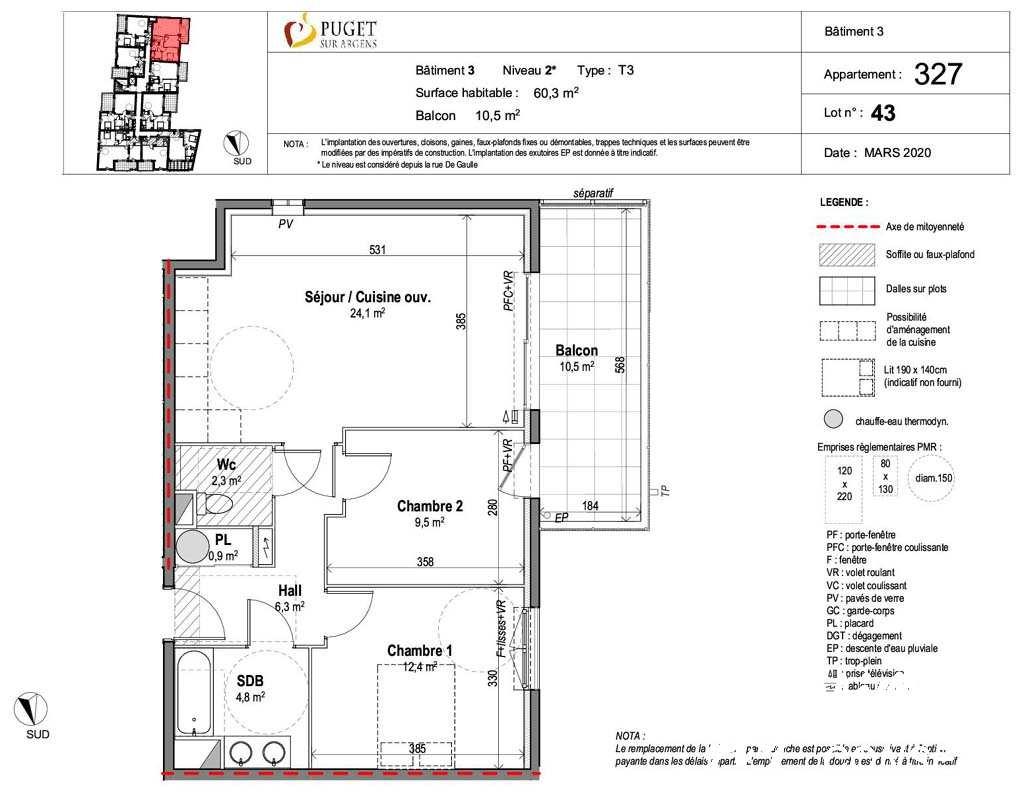 Appartement T3 avec terrasse et jardin - PUGET SUR ARGENS - Sud de la France