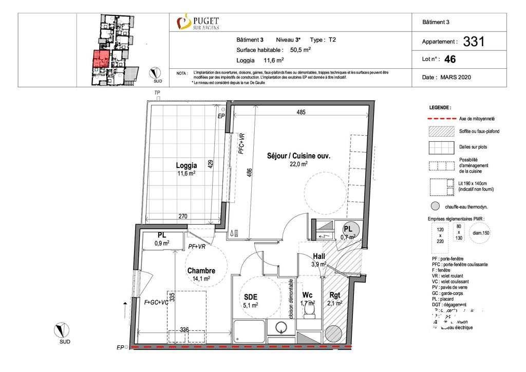 Appartement T2 neuf centre-village - PUGET SUR ARGENS - Sud de la France