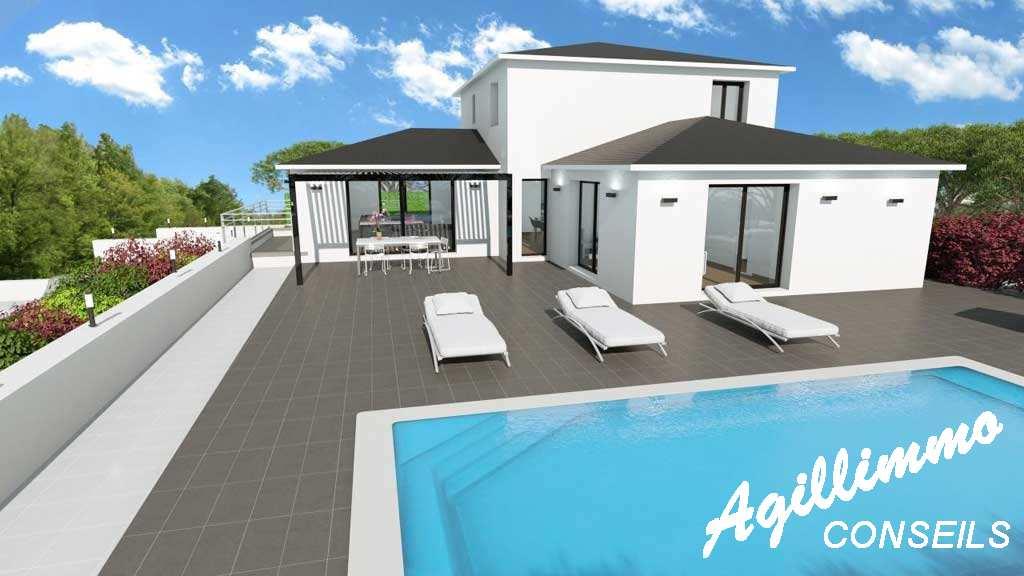Maison moderne neuve 6 pièces - Var dans le sud Est de la France